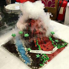 Cake Design London # volcano cake