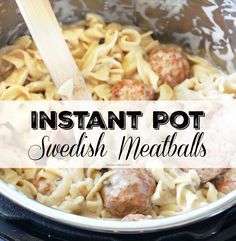 Insanely easy and super delicious Instant Pot recipe for Swedish Meatballs stroganoff style. Make this your new favorite go-to pressure cooker dinner...