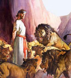 Daniel in the Lions' den | Bible Stories | Pinterest | Bible ...