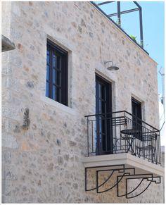 Metal Windows, Greek Design, Greek House, Local Architects, French Doors, Photo Credit, Balcony, Greece, Villa