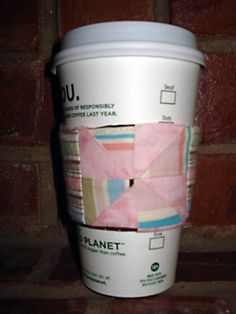 Scrap Buster Contest Entry ~ Coffee Cup Sleeve Tutorial « Sew,Mama,Sew! Blog