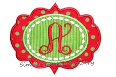 Applique Frame Machine Embroidery Design by SimplySweetEmbroider, $4.00