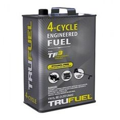 110OZ 4Cyc Eng Fuel, Pack of 4  Trufuel, 110 OZ, 92 Octane, Premium Engine Fuel, Engineered For 4 Cycle Small Engines, Stabilized For Long Shelf Life, 2 + Years, No Ethanol Or Oil Added, Gallon Reusable Metal Container.