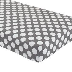 Baby Bedding: Grey Dot Crib Fitted Sheet | The Land of Nod