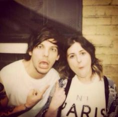 Louis with a fan today (6/23/14)
