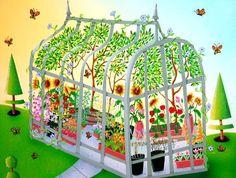 """Green House"" - ValGal Art"