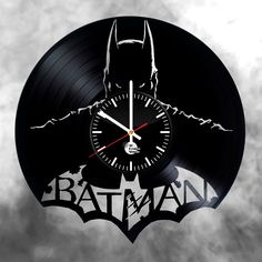 Batman vinyl record wall clock - VINYL CLOCKS
