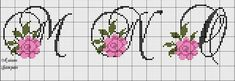 Ponto cruz Cross Stitch Alphabet, Cross Stitch Embroidery, Cross Stitch Patterns, Letters, Wallpaper, Floral, Alphabet Names, Cutting Board, Grid