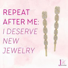 SHOP NOW at www.jenkdesignsny.com  You can do it! #diamond #earrings #new #long #hot #summer #jenk