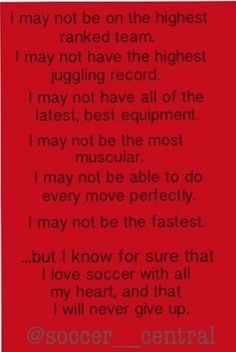 The soccer life