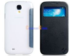Faux Leather & Plastic Protective Case for Samsung Galaxy S4/ I9500 (Black)