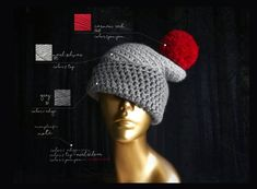 Crochet Winter Hats, Mommy And Me Outfits, Fall Accessories, Acrylic Wool, Pom Pom Hat, Hat Sizes, Leather Earrings, Knitted Hats, Tie