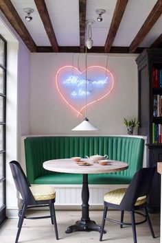 Breakfast Table - Dining Room - Neon Sign - Wall Decor - Home Design