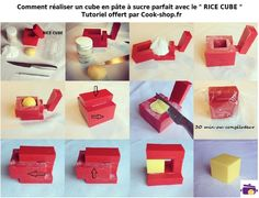 rice cube - Recherche Google Rice Cube, Cubes, Kitchen Tools, Parfait, Sushi, Dips, Gadgets, Container, Cupcakes