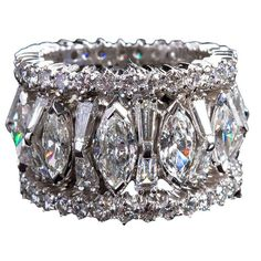 Mixed-cut Diamond Eternity Band lbv