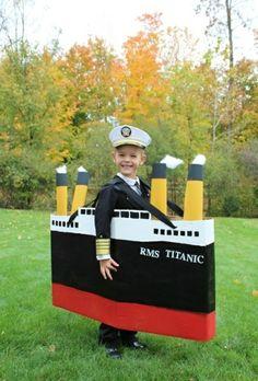 karnevalskostüme basteln selbstgemachte kostüme kapitän von titanic // DIY halloween costume captain boat
