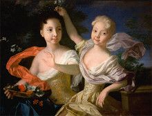Portrait of Anna and Elizabeth as children. Daughters of Peter the Great and the peasant woman he named Catherine I and Empress of Russia Peter The Great, Catherine The Great, Adele, My Favourite Subject, Imperial Russia, Fun Facts, History, Portrait, Daughters