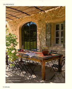 Terrasse couverte au charme provençal avec toiture | Elisa ...