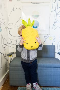 Pillowfort Pineapple Pillow from Target || via Emily Henderson || style blog