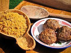 Paçoca de carne e almôndegas