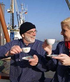 Teetrinken im Hafen, © Ostfriesland Tourismus GmbH