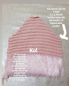 Image may contain: hat and text Baby Knitting Patterns, Knitting For Kids, Crochet For Kids, Knit Crochet, Crochet Hats, Vestidos Chiffon, Knitted Baby Cardigan, Kids Coats, Knit Fashion