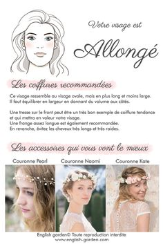 Conseils astuces coiffure Visage allongé  #wedding #hair #coiffure