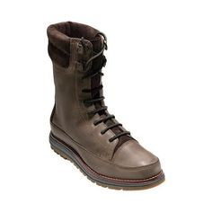 Women's Cole Haan Lockridge Grand Double Collar Lace Up Boot Burnt