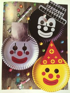 Clowns Clown Crafts, Circus Crafts, Paper Plate Crafts, Paper Plates, Art For Kids, Crafts For Kids, Arts And Crafts, Holiday Club, Circus Theme