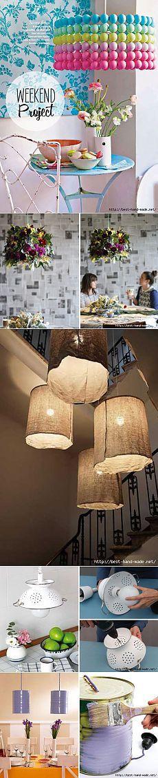 Оригинальные лампы и абажуры своими руками. Идеи, мастер-классы
