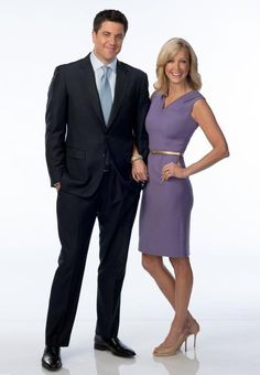 josh elliott & lara spencer, watch them every single morning on GMA! my morning wouldn't be complete without them!