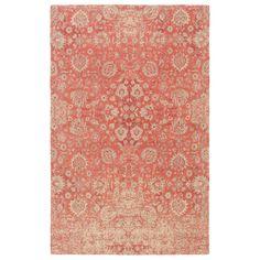 Surya Edith Floral Coral Hand Loomed Wool Rug | LaylaGrayce