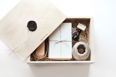 NEW!!!  Just in time for holiday! A pretty parcel of Besotted Brand favourites in a sliding top wood box with wax seal.