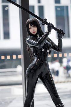 Cosplay Outfits, Cosplay Girls, Katana Girl, Latex Cosplay, Arte Cyberpunk, Cyberpunk 2077, Game Costumes, Marvel Cosplay, Latex Girls