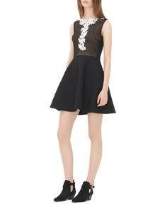 Sandro Rama Fit-And-Flare Dress