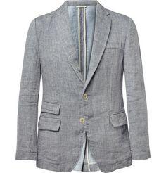 Billy ReidLewis Linen and Cotton-Blend Blazer ($625)