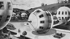 Twentieth Century Futurism Looks Really Bizarre Now - Spherical houses from the September, 1934 issue of Everyday Science and Mechanics