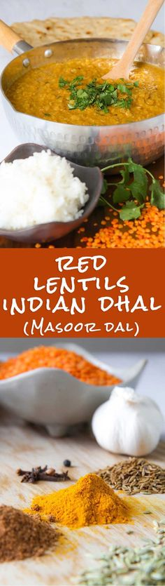 INDIAN RED LENTILS DAL (masoor dal) - Red lentils dal recalls me my first trip in Asia. It was July 1999, and in that time I used to live for travelling. The fist region I visited was North India. I was vegetarian, and on shoestring, so between me and any kind of dal was love at first sight! Preparing red lentils dal is very simple, but is mandatory pay very attention to the spices, they must be of first quality.  - vegetarian recipes stew recipe gluten free recipe soup Lentil Recipes, Indian Food Recipes, Asian Recipes, Soup Recipes, Vegetarian Recipes, Dinner Recipes, Cooking Recipes, Healthy Recipes, Ethnic Recipes