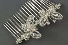 Vintage Butterfly Crystal Wedding Hair Comb. The Vintage Butterfly Comb is a…