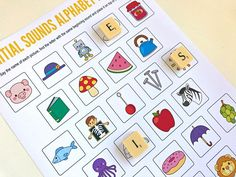 Initial Sounds Alphabet Matching Game - Free Printable for Preschool, Kindergarten and First Grade