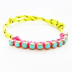 neon friendship bracelet! #neon #summer #style #boho #friendshipbracelet #jewelry #bracelets $15.00