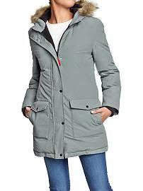 Women's Down-Fill Nylon Coats