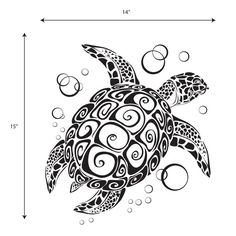 55 Cool turtle tattoo designs, photos and ideas. Do you know the symbolic meaning of turtle tattoos? Check out these tribal, Polynesian, Hawaiian and sea turtle designs. Tattoo Tribal, Samoan Tattoo, Polynesian Tattoos, Filipino Tattoos, Tattoo Black, Tattoo Kind, Turtle Silhouette, Book Silhouette, Elephant Silhouette