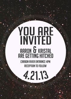 Custom Wedding Invite and Save the Dates // Celestial & Bold // only 10 available