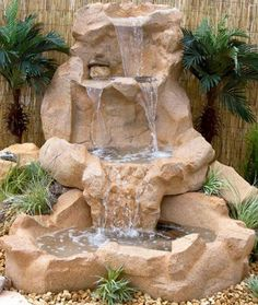 Paradise Spillway Water Outdoor Fountain - Fountains at Hayneedle Garden Waterfall, Waterfall Fountain, Outdoor Water Features, Water Features In The Garden, Backyard Water Feature, Ponds Backyard, Garden Ponds, Garden Water Fountains, Water Garden