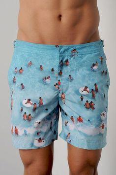BenS Oscar Mens Fashion Swim Trunks Board Shorts Quick Dry Shorts