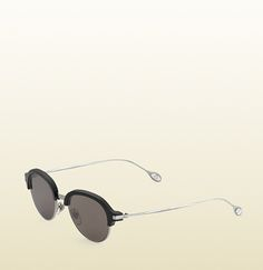 Gucci - round acetate and metal ultra-slim sunglasses 100% UVA/UVB protection $395