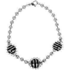 INOX Jewelry 316L Stainless Steel Black Bead Bracelet INOX women's bracelet crafted from quality 316L surgical grade stainless steel accented with black beads wrapped in a coil for a modern touch. INOX Jewelry is a collection of 316L Stainless Steel jewelry for both men and women. The unique designs range from classic to contemporary; to edgy and urban. Specifications: 316L Surgical Grade Stainless Steel