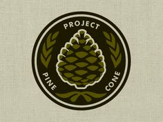 Project Pine Cone designed by Michæl Paukner. Connect with them on Dribbble; Logo Word, Pine Cone Crafts, Logo Design, Graphic Design, Typography Poster, Color Theory, Pine Cones, Logos, Design Projects