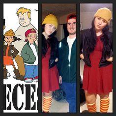 90s Halloween Costume Ideas: Halloween Costumes DIY: Ashley Spinelli & TJ from Disney's Recess